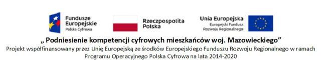 podniesienie kompetencji cyfrowych mieszkanców województwa mazowieckiego - baner